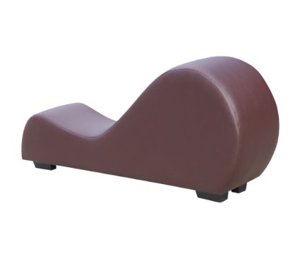 Furniture Faux Leather Stretch Chaise Relaxation and Yoga Chair