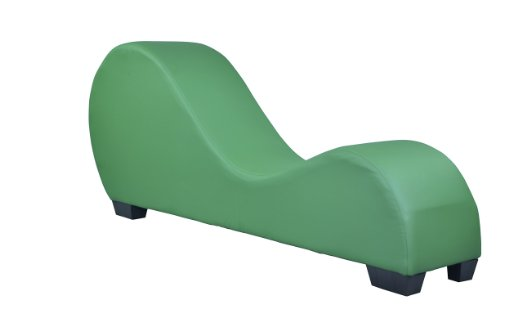Green Leather Yoga Chair Stretch Sofa Relax Sex Chair Love Making